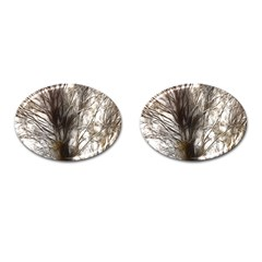 Tree Art Artistic Tree Abstract Background Cufflinks (Oval)