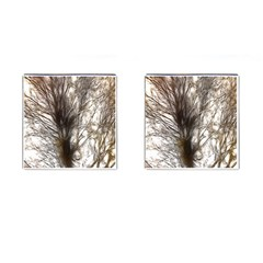 Tree Art Artistic Tree Abstract Background Cufflinks (Square)