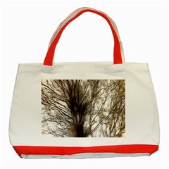 Tree Art Artistic Tree Abstract Background Classic Tote Bag (Red)