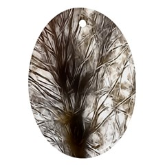 Tree Art Artistic Tree Abstract Background Oval Ornament (two Sides)