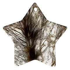 Tree Art Artistic Tree Abstract Background Star Ornament (two Sides)
