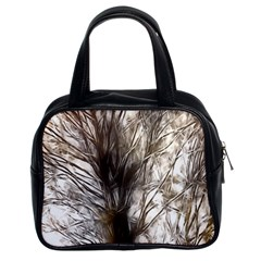 Tree Art Artistic Tree Abstract Background Classic Handbags (2 Sides)