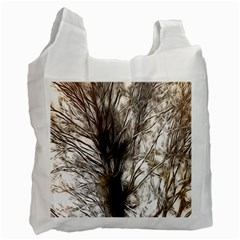 Tree Art Artistic Tree Abstract Background Recycle Bag (One Side)