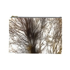 Tree Art Artistic Tree Abstract Background Cosmetic Bag (Large)