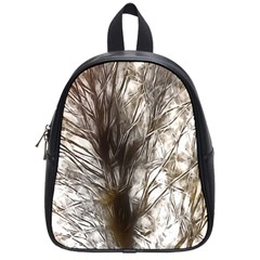 Tree Art Artistic Tree Abstract Background School Bags (Small)