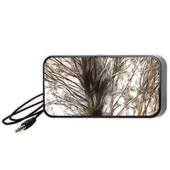 Tree Art Artistic Tree Abstract Background Portable Speaker (Black)