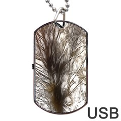 Tree Art Artistic Tree Abstract Background Dog Tag Usb Flash (two Sides)