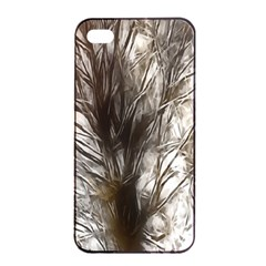 Tree Art Artistic Tree Abstract Background Apple iPhone 4/4s Seamless Case (Black)