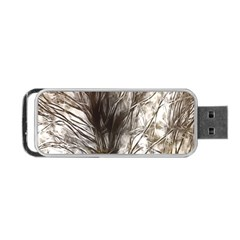 Tree Art Artistic Tree Abstract Background Portable Usb Flash (one Side)
