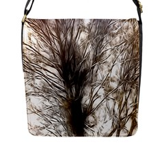 Tree Art Artistic Tree Abstract Background Flap Messenger Bag (L)
