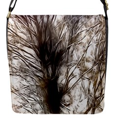 Tree Art Artistic Tree Abstract Background Flap Messenger Bag (S)