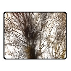 Tree Art Artistic Tree Abstract Background Double Sided Fleece Blanket (Small)
