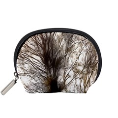 Tree Art Artistic Tree Abstract Background Accessory Pouches (small)