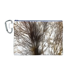 Tree Art Artistic Tree Abstract Background Canvas Cosmetic Bag (m)