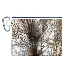Tree Art Artistic Tree Abstract Background Canvas Cosmetic Bag (L)