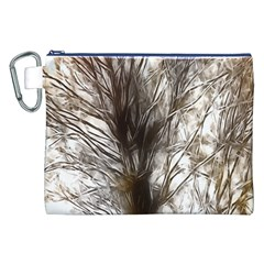 Tree Art Artistic Tree Abstract Background Canvas Cosmetic Bag (XXL)