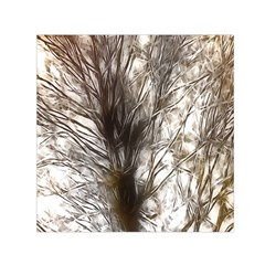 Tree Art Artistic Tree Abstract Background Small Satin Scarf (square)