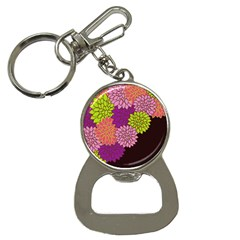 Floral Card Template Bright Colorful Dahlia Flowers Pattern Background Button Necklaces