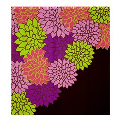 Floral Card Template Bright Colorful Dahlia Flowers Pattern Background Shower Curtain 66  X 72  (large)