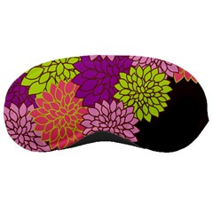 Floral Card Template Bright Colorful Dahlia Flowers Pattern Background Sleeping Masks