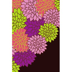 Floral Card Template Bright Colorful Dahlia Flowers Pattern Background 5.5  x 8.5  Notebooks
