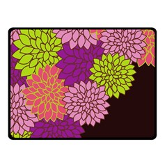 Floral Card Template Bright Colorful Dahlia Flowers Pattern Background Fleece Blanket (Small)