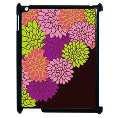 Floral Card Template Bright Colorful Dahlia Flowers Pattern Background Apple Ipad 2 Case (black)