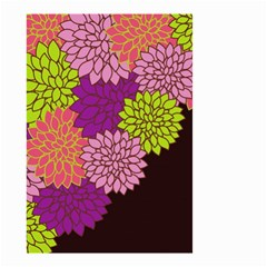 Floral Card Template Bright Colorful Dahlia Flowers Pattern Background Small Garden Flag (two Sides)