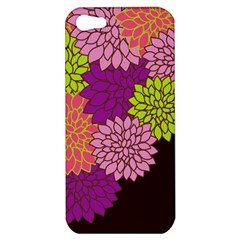Floral Card Template Bright Colorful Dahlia Flowers Pattern Background Apple Iphone 5 Hardshell Case