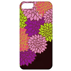 Floral Card Template Bright Colorful Dahlia Flowers Pattern Background Apple Iphone 5 Classic Hardshell Case