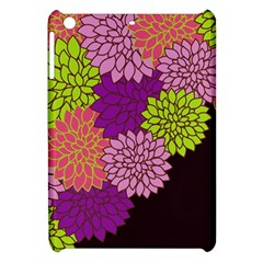 Floral Card Template Bright Colorful Dahlia Flowers Pattern Background Apple Ipad Mini Hardshell Case