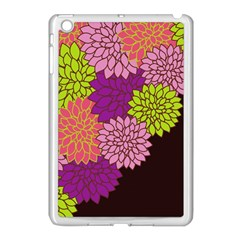 Floral Card Template Bright Colorful Dahlia Flowers Pattern Background Apple Ipad Mini Case (white)