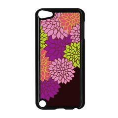Floral Card Template Bright Colorful Dahlia Flowers Pattern Background Apple Ipod Touch 5 Case (black)