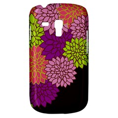 Floral Card Template Bright Colorful Dahlia Flowers Pattern Background Galaxy S3 Mini
