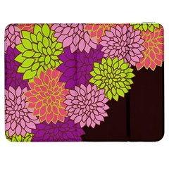 Floral Card Template Bright Colorful Dahlia Flowers Pattern Background Samsung Galaxy Tab 7  P1000 Flip Case
