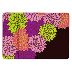 Floral Card Template Bright Colorful Dahlia Flowers Pattern Background Samsung Galaxy Tab 8.9  P7300 Flip Case