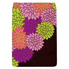 Floral Card Template Bright Colorful Dahlia Flowers Pattern Background Flap Covers (S)