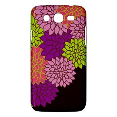 Floral Card Template Bright Colorful Dahlia Flowers Pattern Background Samsung Galaxy Mega 5 8 I9152 Hardshell Case