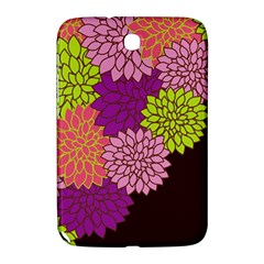Floral Card Template Bright Colorful Dahlia Flowers Pattern Background Samsung Galaxy Note 8 0 N5100 Hardshell Case