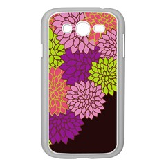 Floral Card Template Bright Colorful Dahlia Flowers Pattern Background Samsung Galaxy Grand Duos I9082 Case (white)
