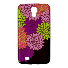 Floral Card Template Bright Colorful Dahlia Flowers Pattern Background Samsung Galaxy Mega 6 3  I9200 Hardshell Case