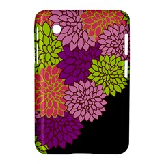 Floral Card Template Bright Colorful Dahlia Flowers Pattern Background Samsung Galaxy Tab 2 (7 ) P3100 Hardshell Case