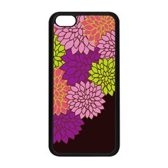 Floral Card Template Bright Colorful Dahlia Flowers Pattern Background Apple iPhone 5C Seamless Case (Black)