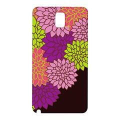 Floral Card Template Bright Colorful Dahlia Flowers Pattern Background Samsung Galaxy Note 3 N9005 Hardshell Back Case