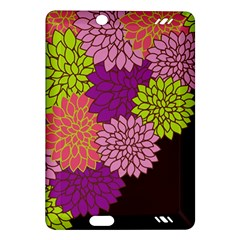 Floral Card Template Bright Colorful Dahlia Flowers Pattern Background Amazon Kindle Fire Hd (2013) Hardshell Case