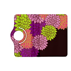 Floral Card Template Bright Colorful Dahlia Flowers Pattern Background Kindle Fire HD (2013) Flip 360 Case