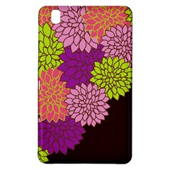 Floral Card Template Bright Colorful Dahlia Flowers Pattern Background Samsung Galaxy Tab Pro 8 4 Hardshell Case