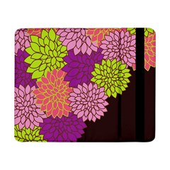Floral Card Template Bright Colorful Dahlia Flowers Pattern Background Samsung Galaxy Tab Pro 8 4  Flip Case