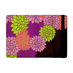 Floral Card Template Bright Colorful Dahlia Flowers Pattern Background Ipad Mini 2 Flip Cases
