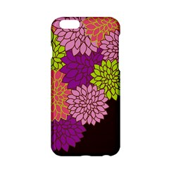 Floral Card Template Bright Colorful Dahlia Flowers Pattern Background Apple iPhone 6/6S Hardshell Case